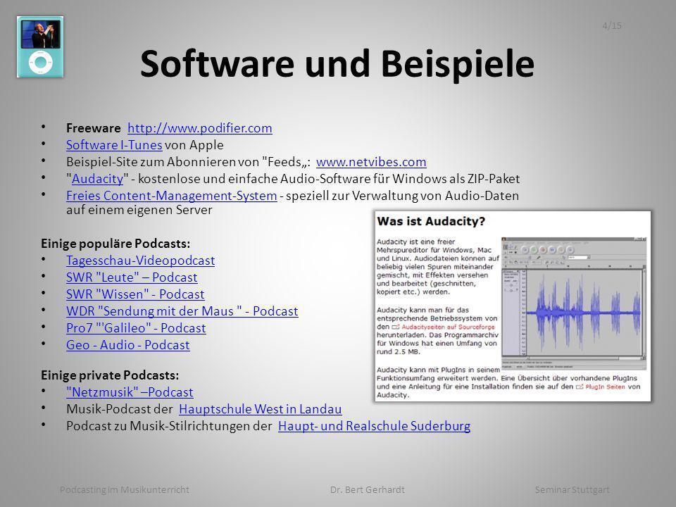 Software und Beispiele