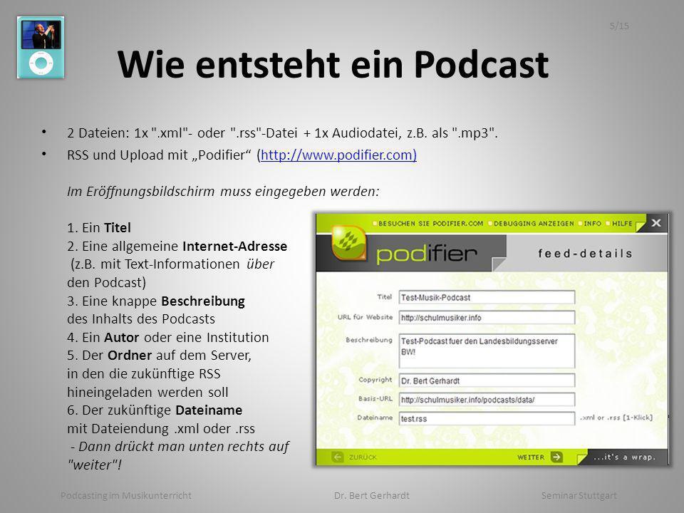 Wie entsteht ein Podcast