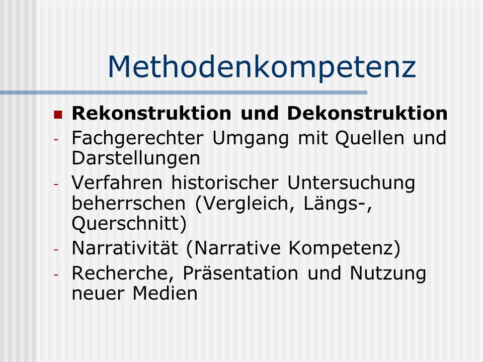 Methodenkompetenz Rekonstruktion und Dekonstruktion