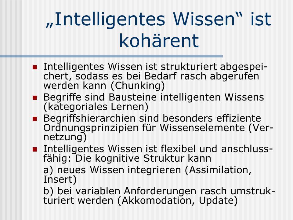 """Intelligentes Wissen ist kohärent"
