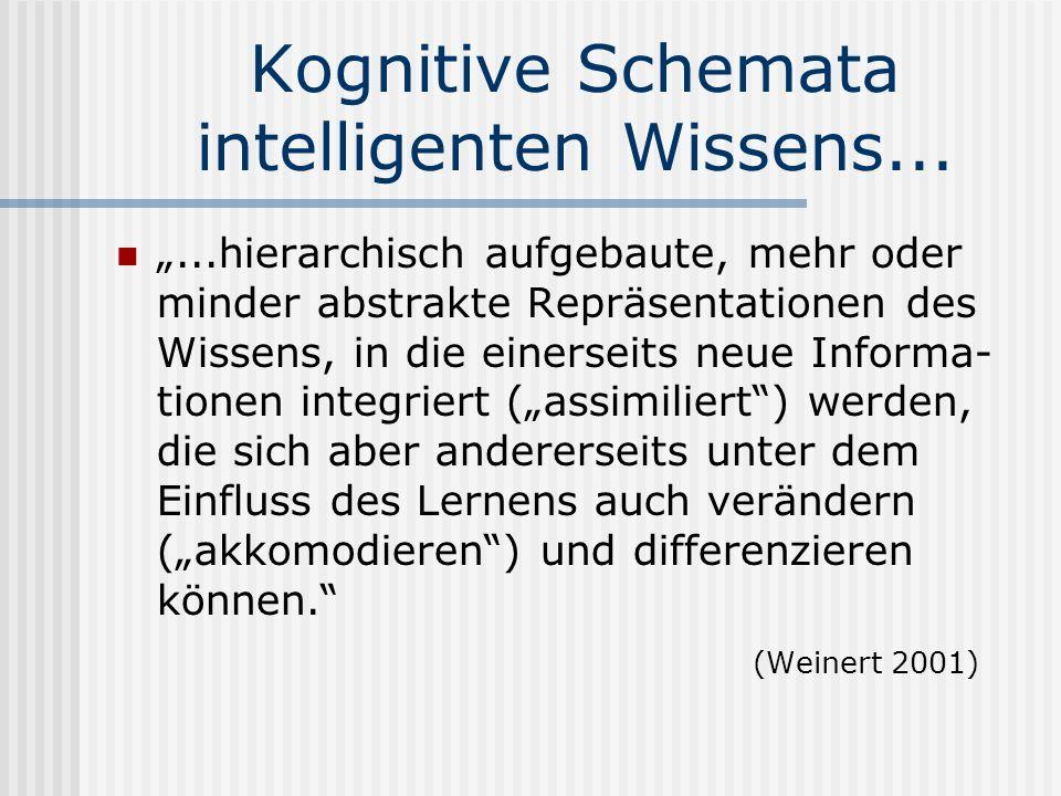 Kognitive Schemata intelligenten Wissens...