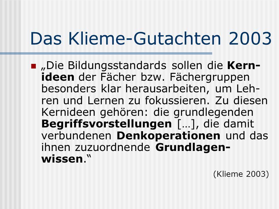 Das Klieme-Gutachten 2003
