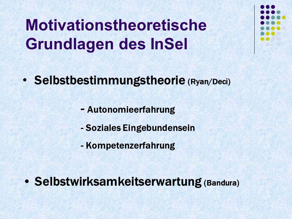 Motivationstheoretische Grundlagen des InSel