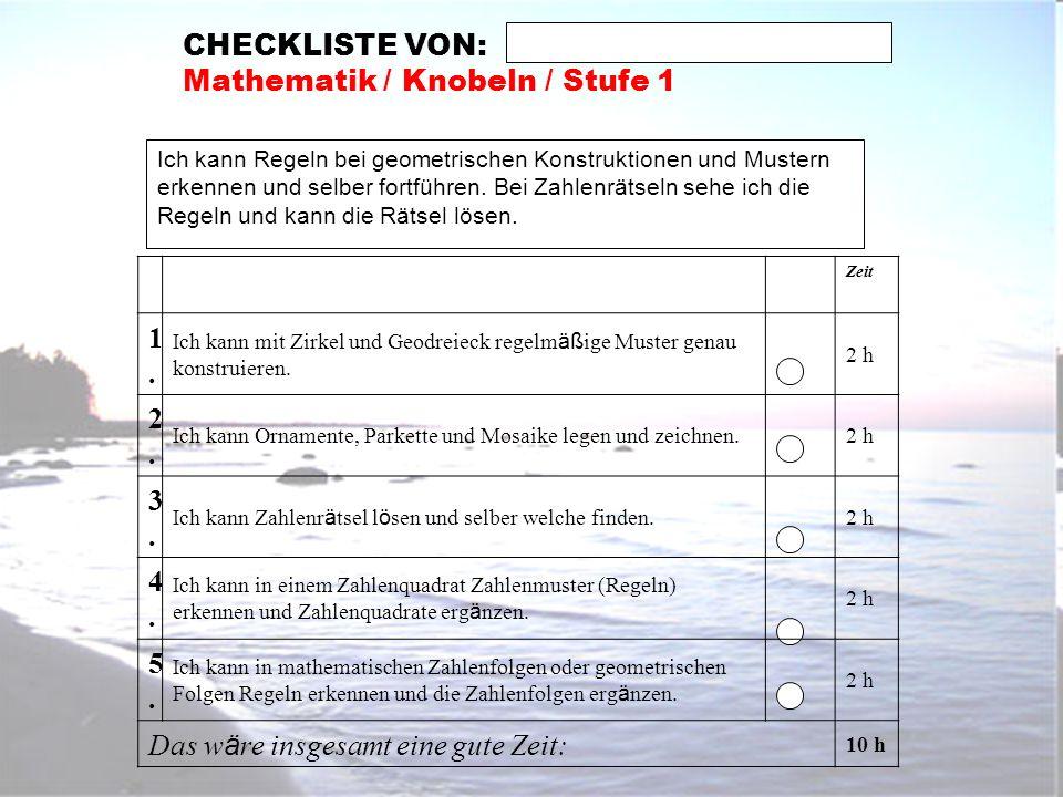 Mathematik / Knobeln / Stufe 1