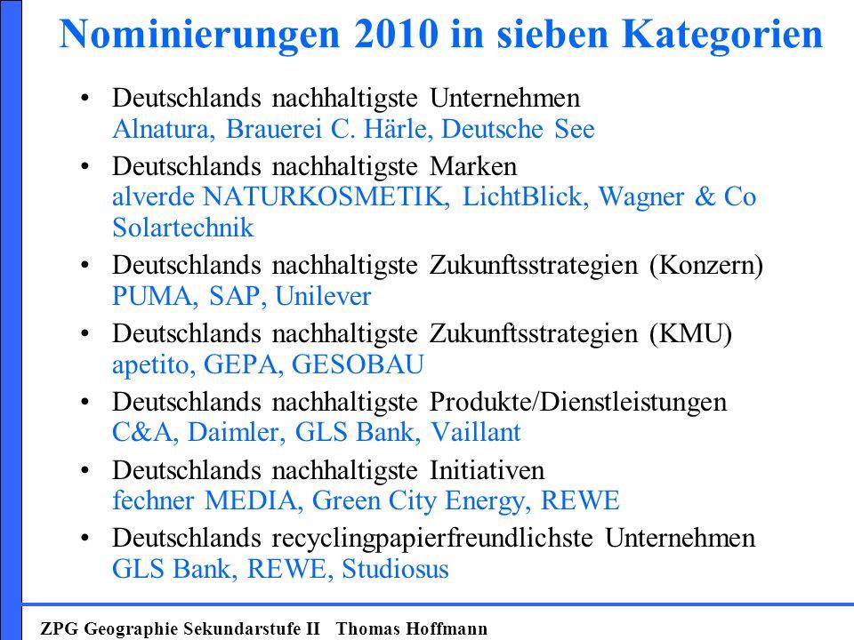Nominierungen 2010 in sieben Kategorien