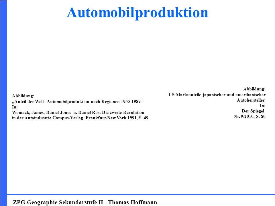 Automobilproduktion ZPG Geographie Sekundarstufe II Thomas Hoffmann