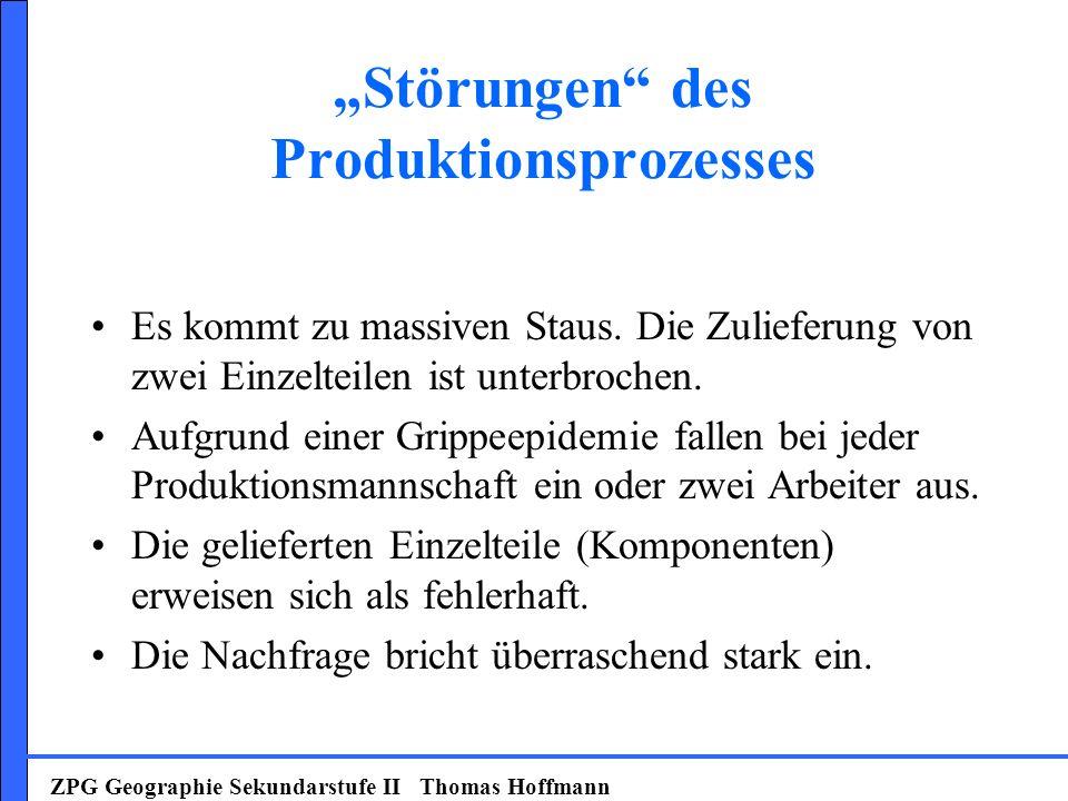 """""""Störungen des Produktionsprozesses"""