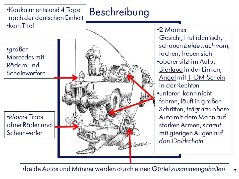 Beschreibung Karikatur entstand 4 Tage nach der deutschen Einheit