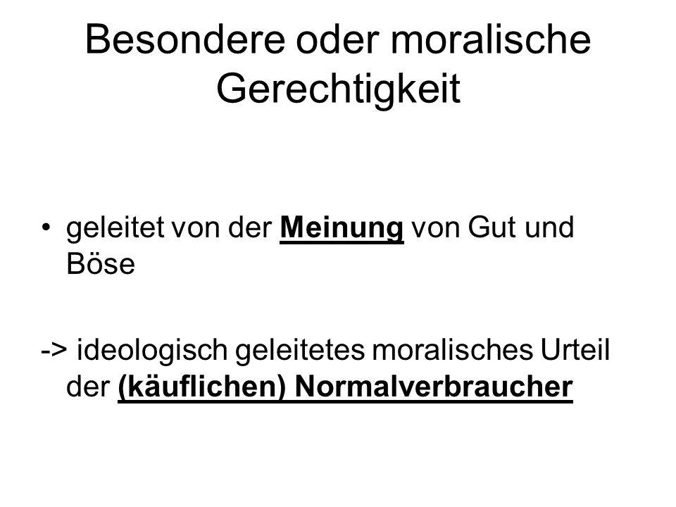 Besondere oder moralische Gerechtigkeit