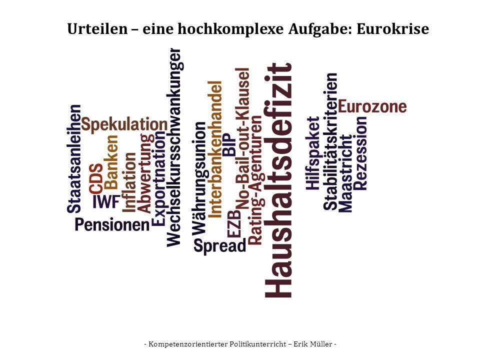 Urteilen – eine hochkomplexe Aufgabe: Eurokrise