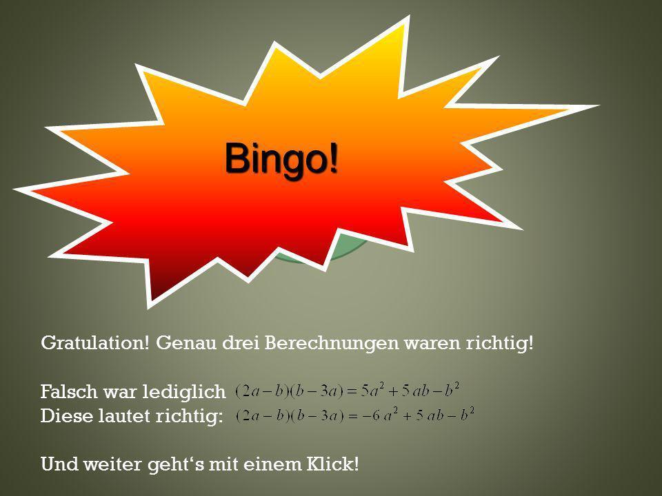 Bingo! Klicke hier— oder wo anders.