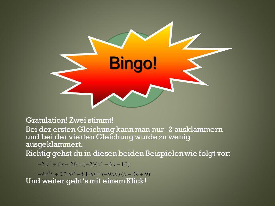 Bingo!Klicke hier— oder wo anders.