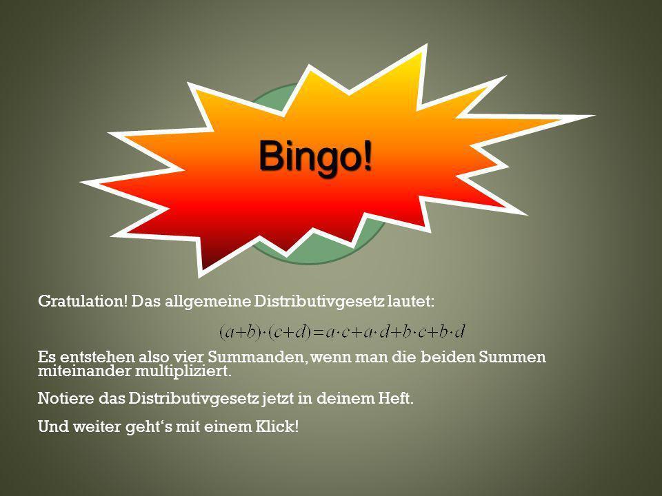 Bingo! Klicke hier— oder wo anders