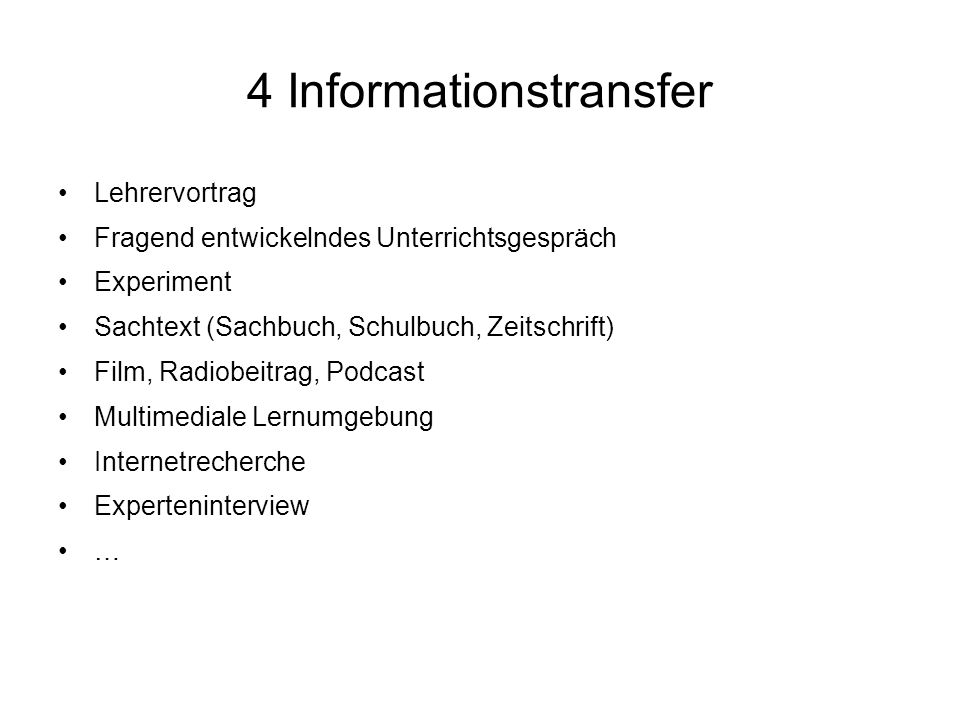 4 Informationstransfer