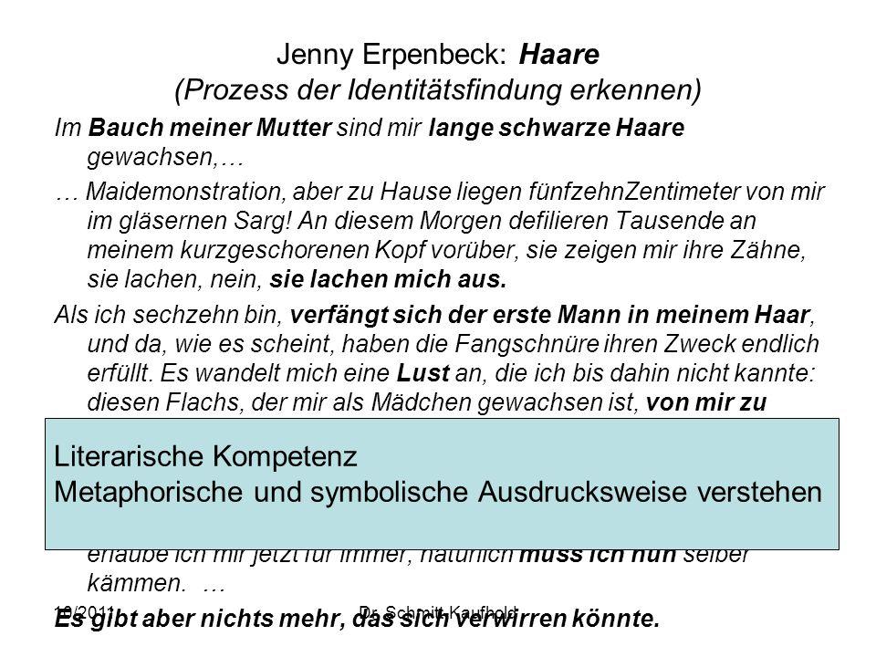Jenny Erpenbeck: Haare (Prozess der Identitätsfindung erkennen)