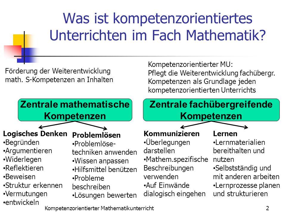 Was ist kompetenzorientiertes Unterrichten im Fach Mathematik