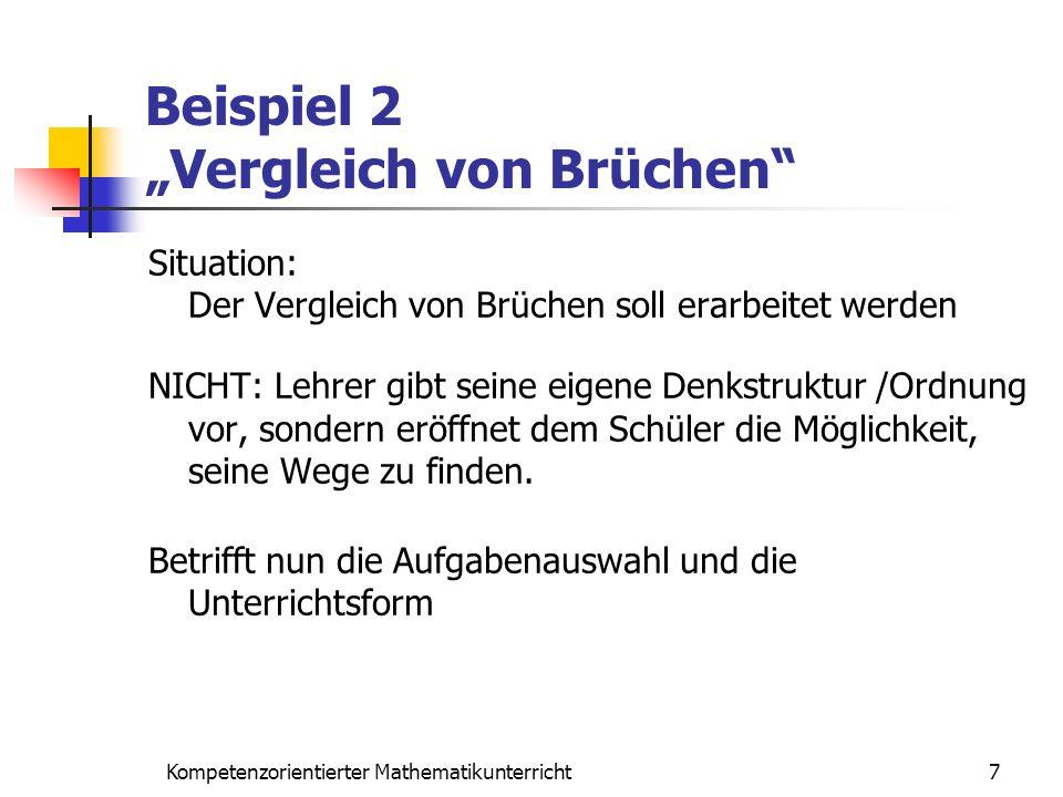 """Beispiel 2 """"Vergleich von Brüchen"""