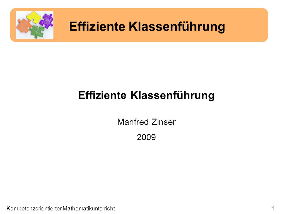 Effiziente Klassenführung