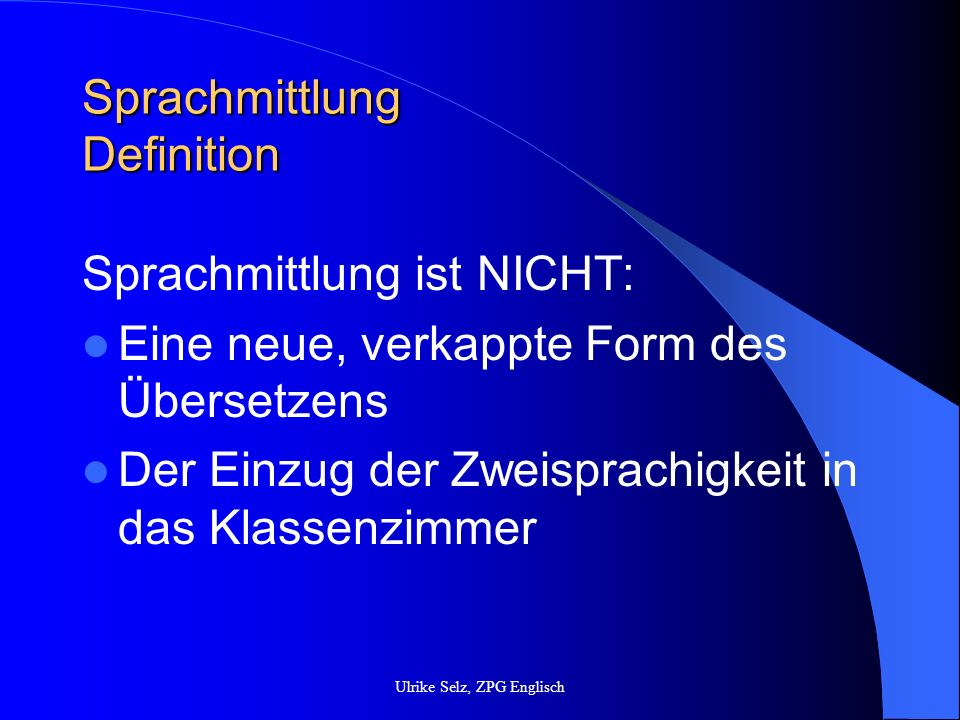 Sprachmittlung Definition