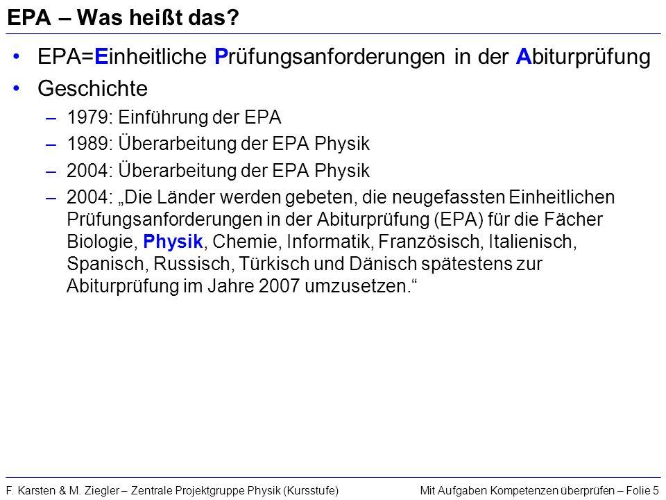 EPA=Einheitliche Prüfungsanforderungen in der Abiturprüfung Geschichte