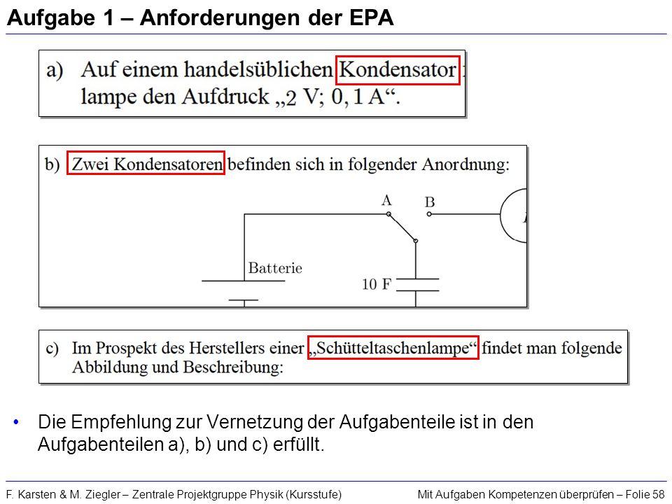 Aufgabe 1 – Anforderungen der EPA