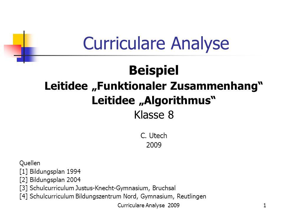 """Leitidee """"Funktionaler Zusammenhang Leitidee """"Algorithmus"""