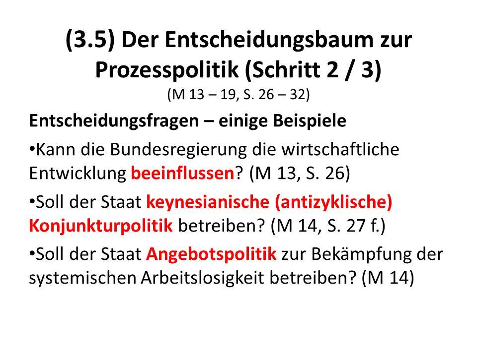 (3.5) Der Entscheidungsbaum zur Prozesspolitik (Schritt 2 / 3) (M 13 – 19, S. 26 – 32)