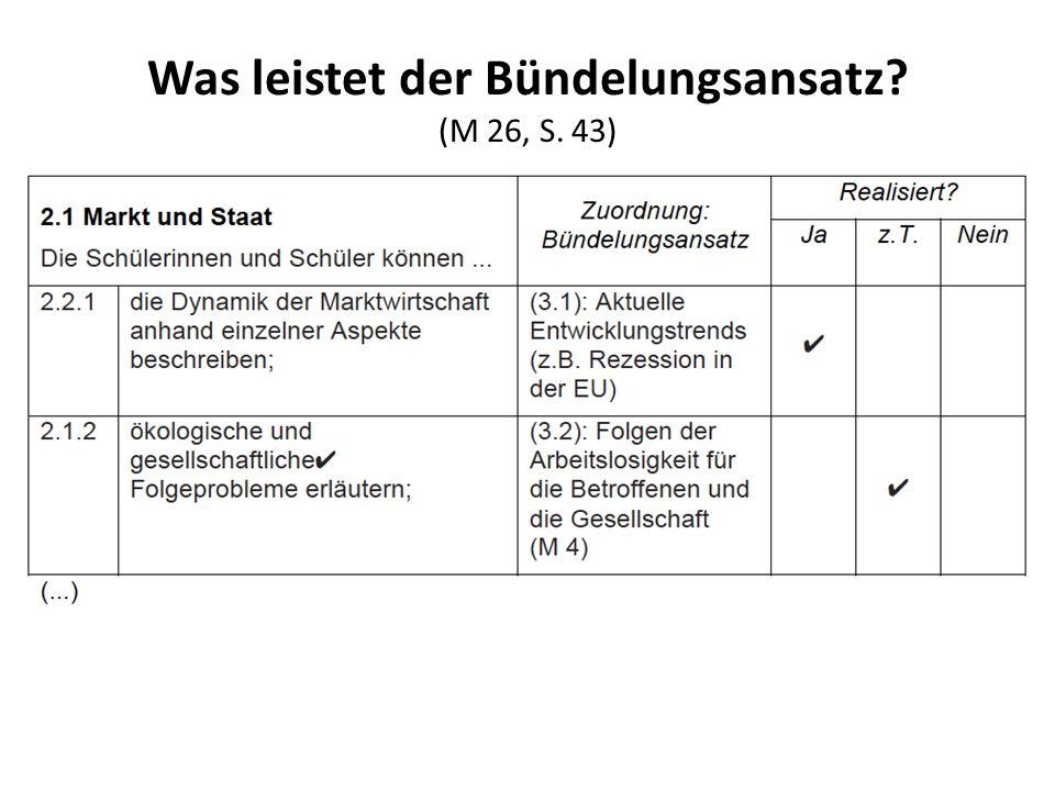 Was leistet der Bündelungsansatz (M 26, S. 43)