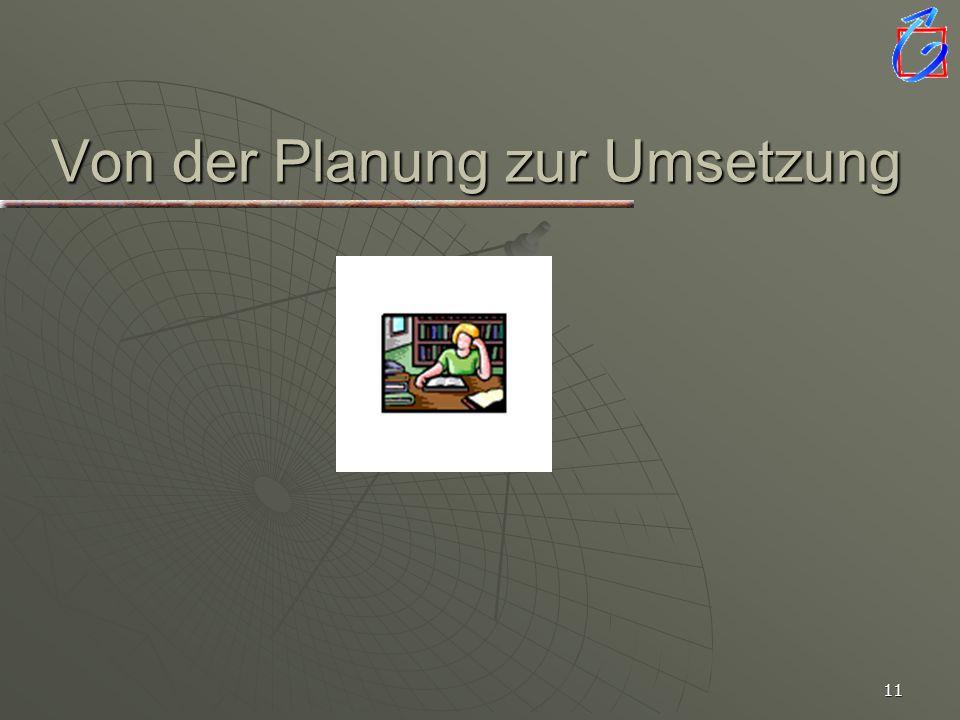 Von der Planung zur Umsetzung