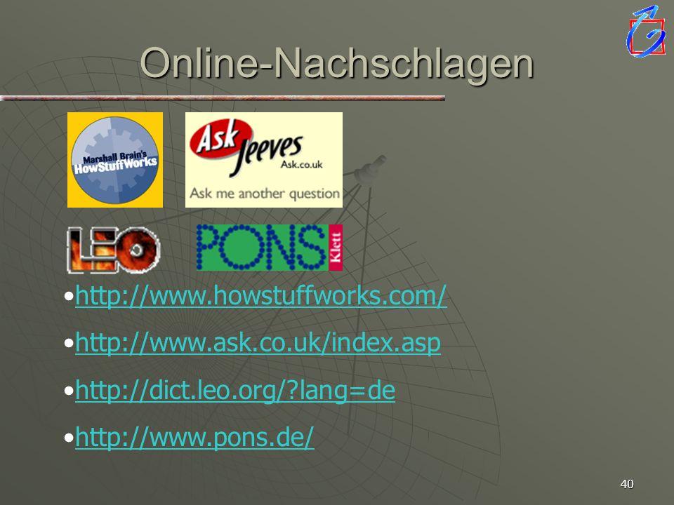 Online-Nachschlagen http://www.howstuffworks.com/