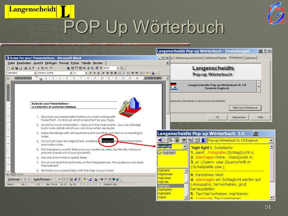 POP Up Wörterbuch Neue Version XL 3.0 hat beide Sprachrichtungen!!!