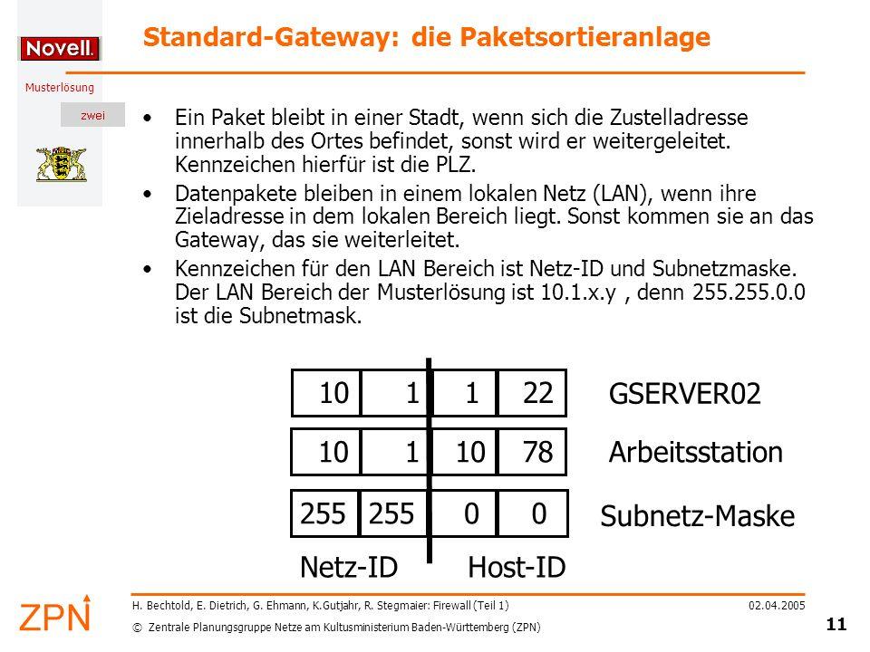 Standard-Gateway: die Paketsortieranlage
