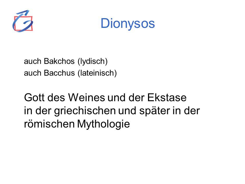 Dionysos auch Bakchos (lydisch)