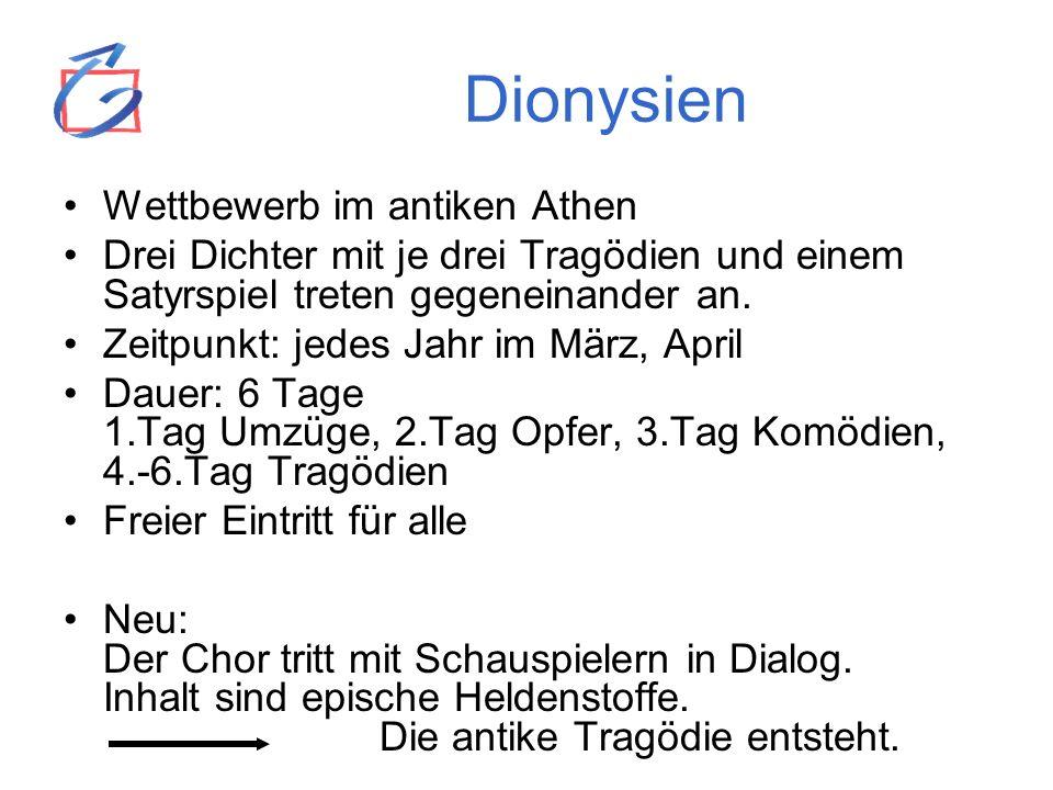Dionysien Wettbewerb im antiken Athen