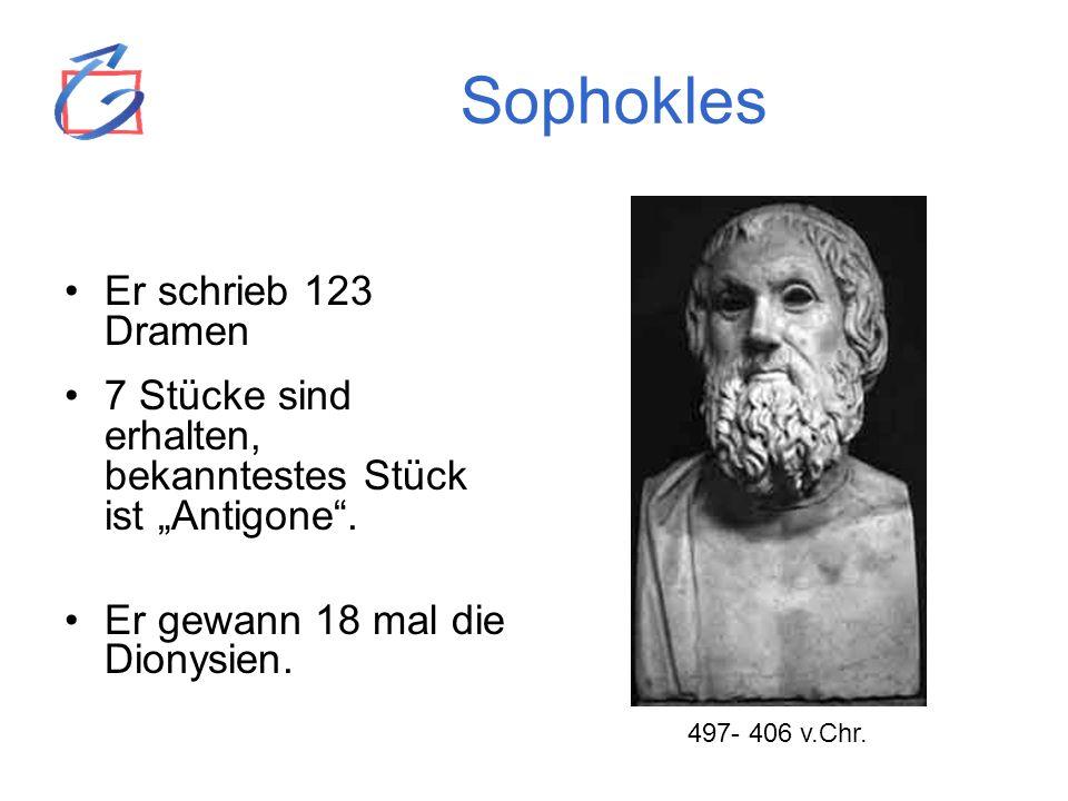 Sophokles Er schrieb 123 Dramen