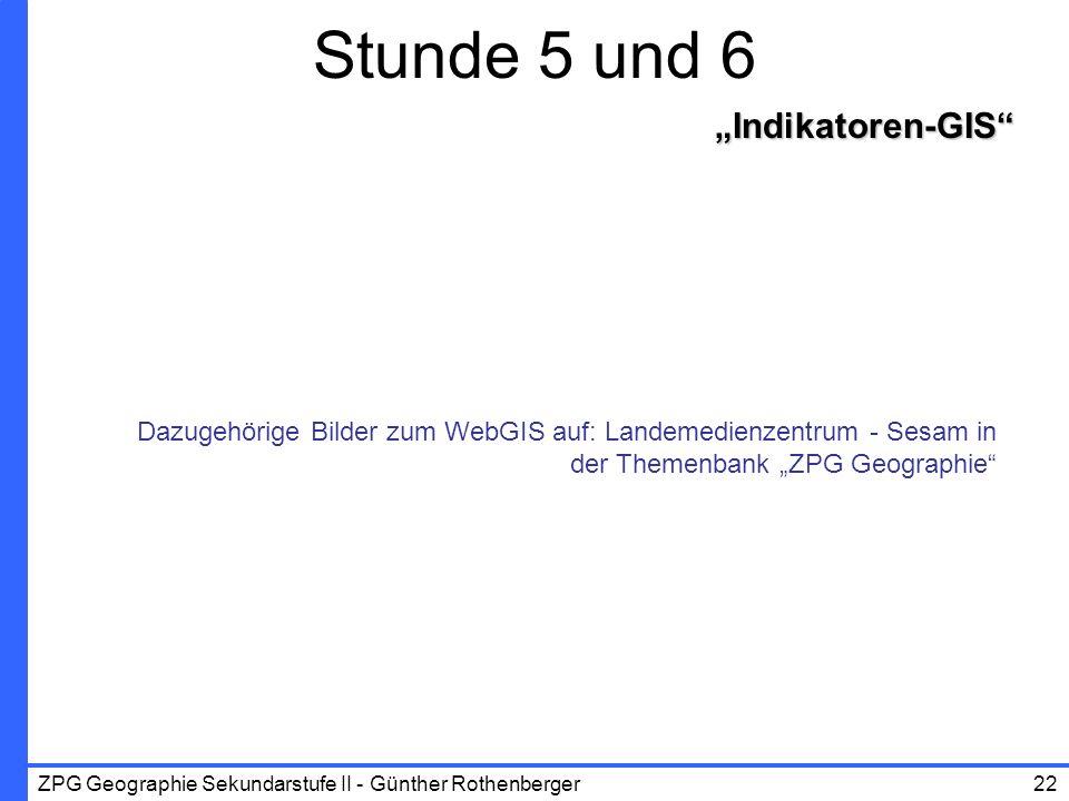 """Stunde 5 und 6 """"Indikatoren-GIS"""