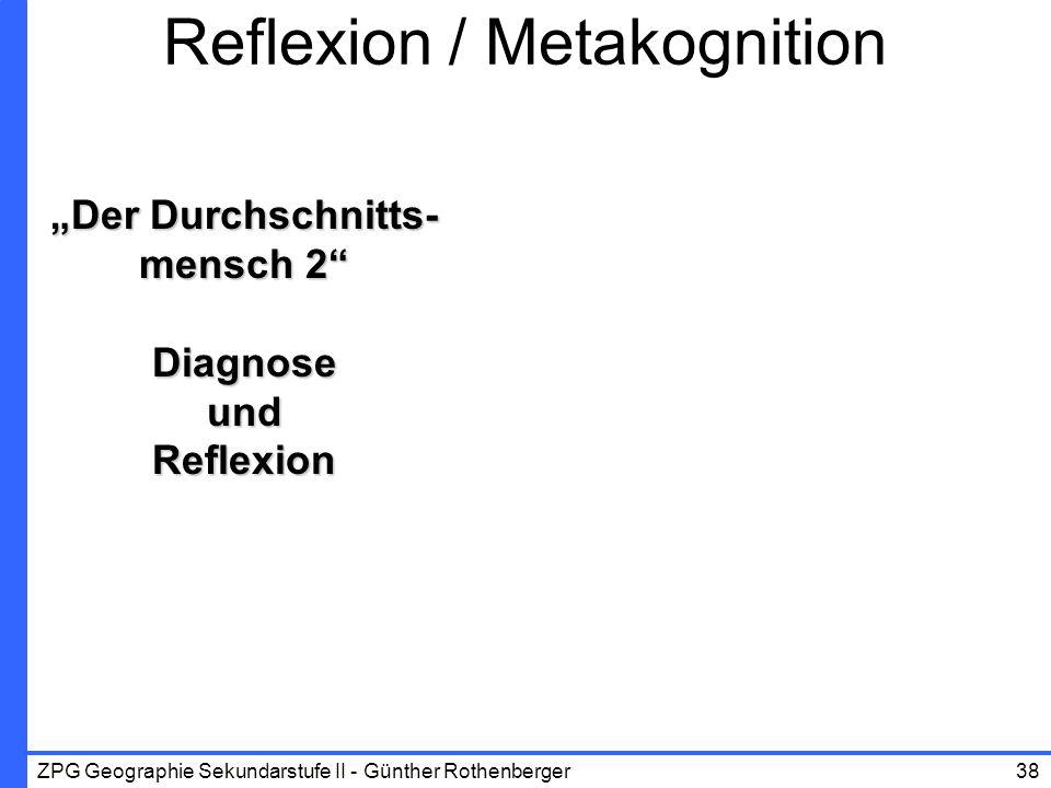 Reflexion / Metakognition