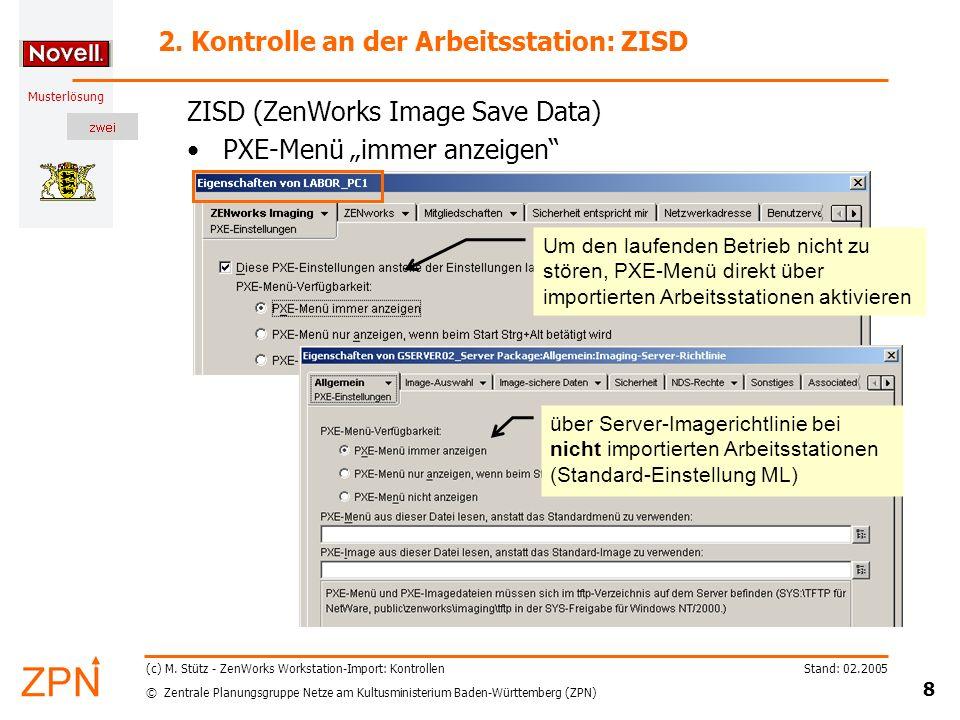 2. Kontrolle an der Arbeitsstation: ZISD