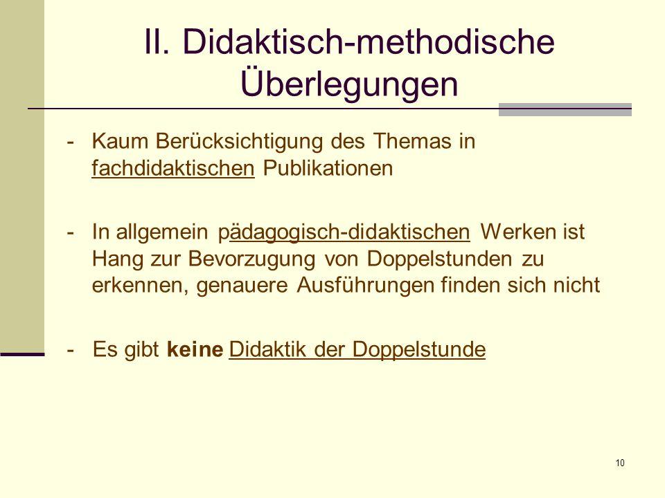 II. Didaktisch-methodische Überlegungen