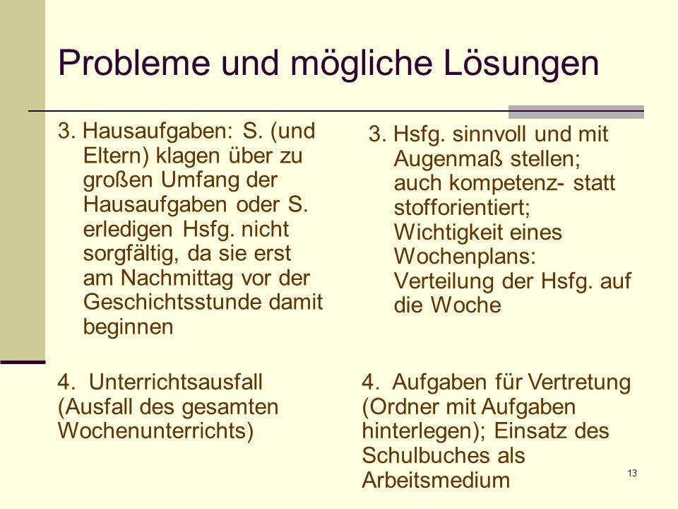 Probleme und mögliche Lösungen