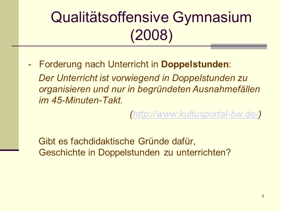 Qualitätsoffensive Gymnasium (2008)