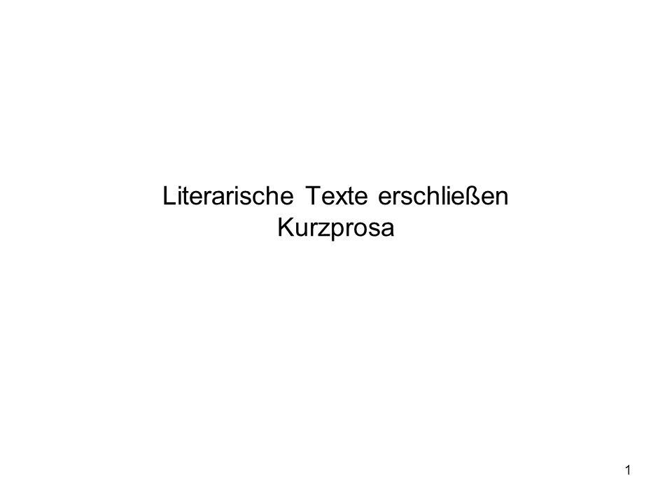 Literarische Texte erschließen Kurzprosa