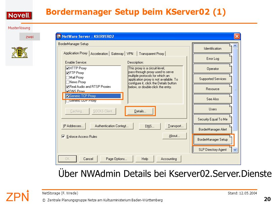 Bordermanager Setup beim KServer02 (1)