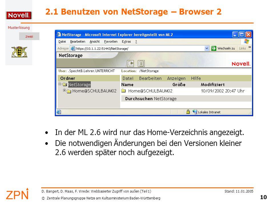 2.1 Benutzen von NetStorage – Browser 2