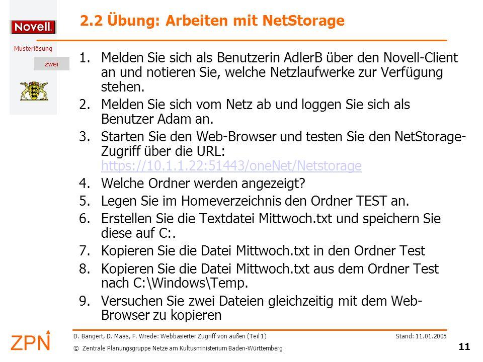 2.2 Übung: Arbeiten mit NetStorage