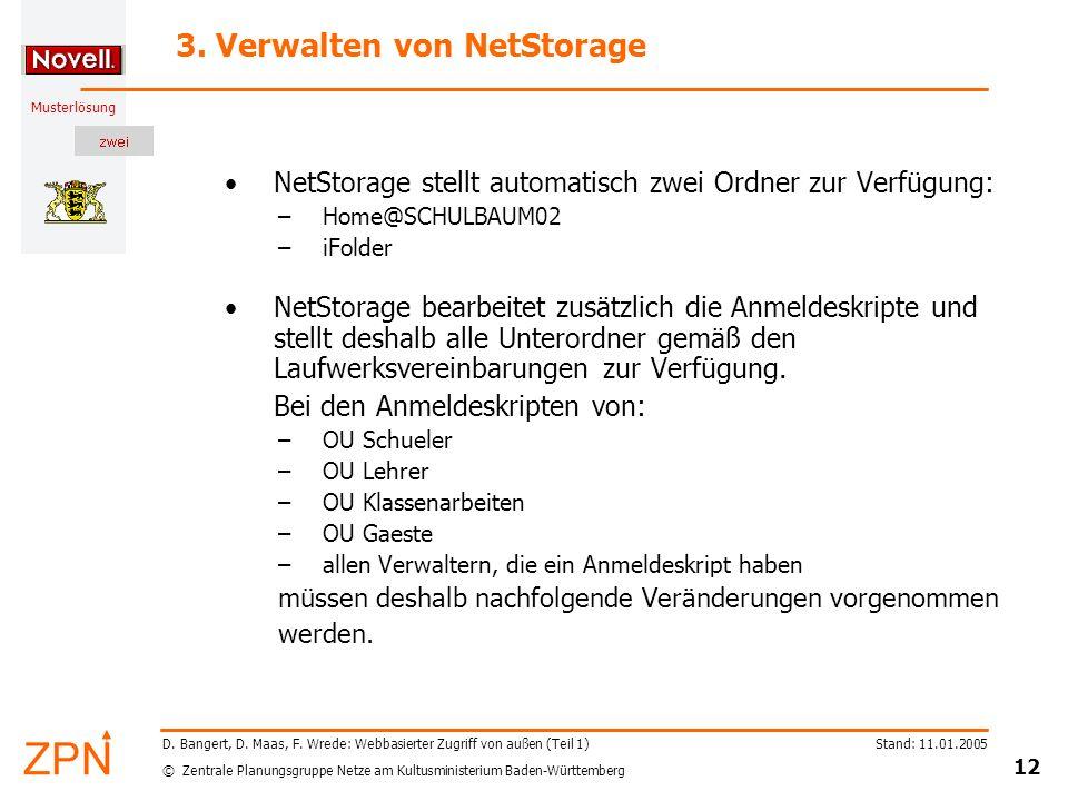 3. Verwalten von NetStorage