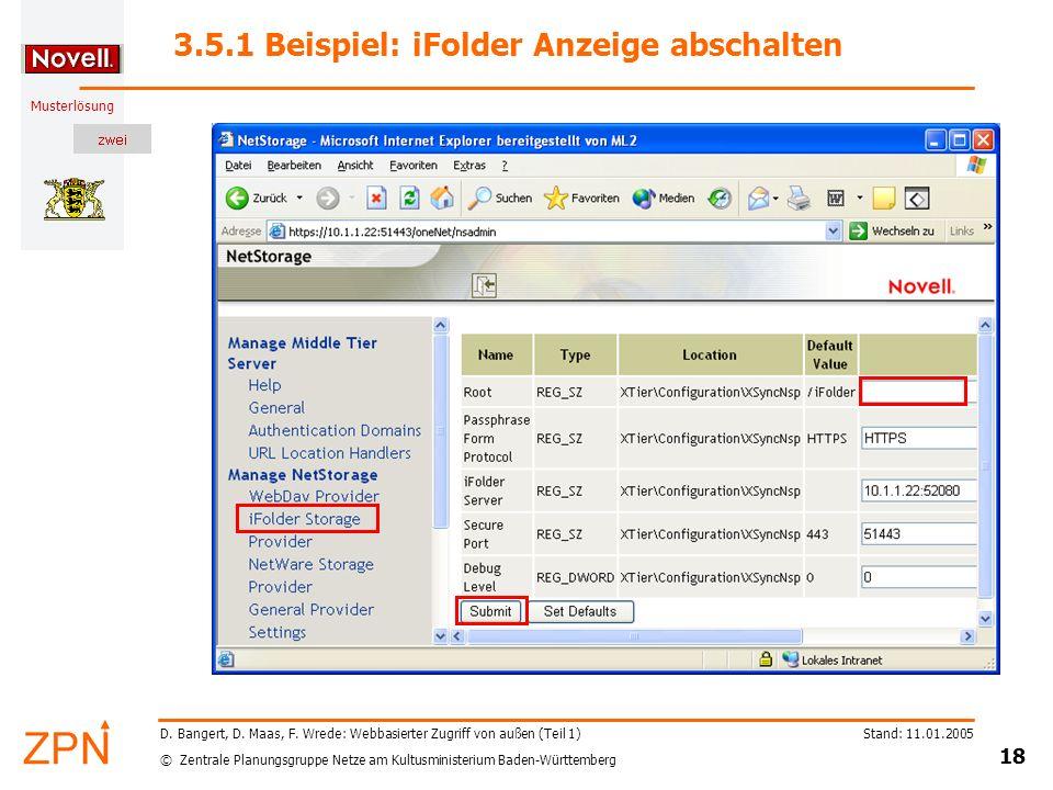3.5.1 Beispiel: iFolder Anzeige abschalten