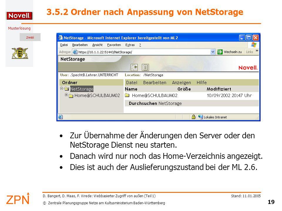 3.5.2 Ordner nach Anpassung von NetStorage