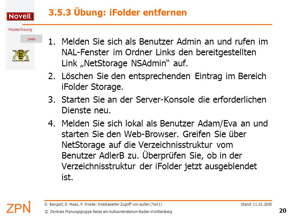 3.5.3 Übung: iFolder entfernen
