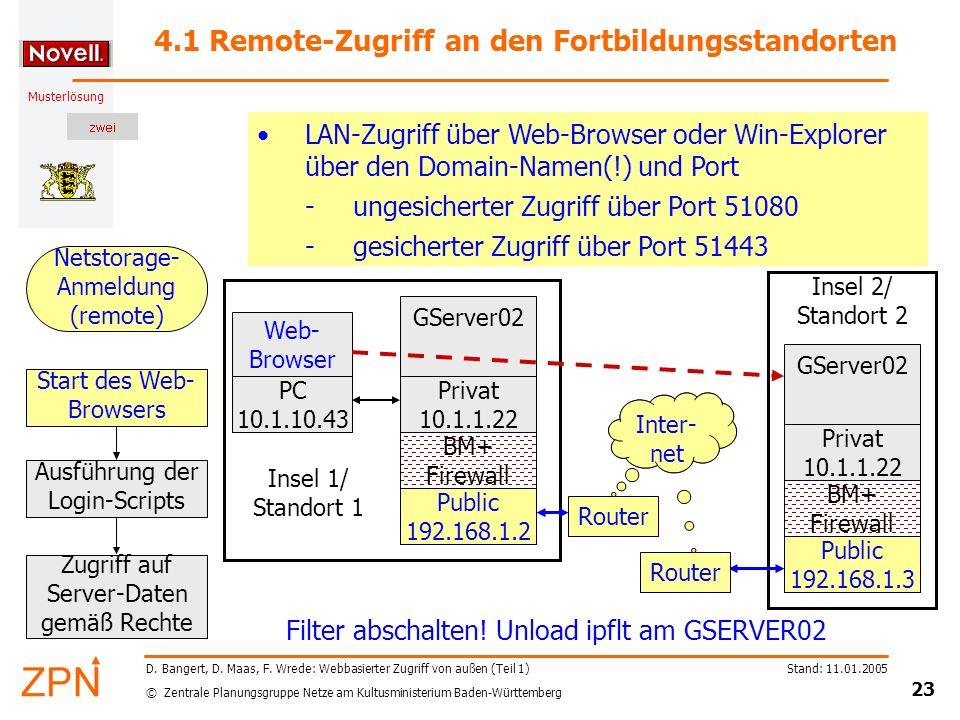 4.1 Remote-Zugriff an den Fortbildungsstandorten
